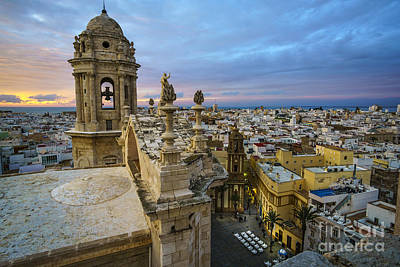Spain Photograph - Cadiz Cathedral View From Levante Tower Cadiz Spain by Pablo Avanzini