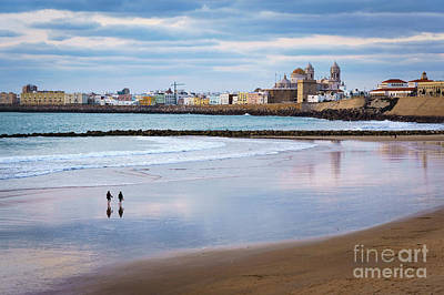 Photograph - Cadiz From Santa Maria Del Mar Beach Cadiz Spain by Pablo Avanzini