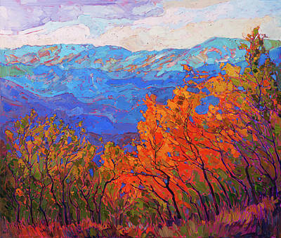 Painting - Cadmium Flame by Erin Hanson