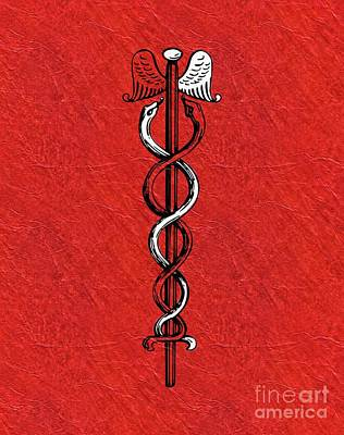 Reptiles Royalty-Free and Rights-Managed Images - Caduceus - Symbols of the Occult by Pierre Blanchard