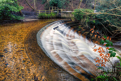 Stepping Stones Photograph - Caeau Weir by Adrian Evans