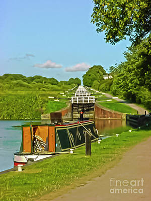 Photograph - Caen Hill Locks Wiltshire by Terri Waters