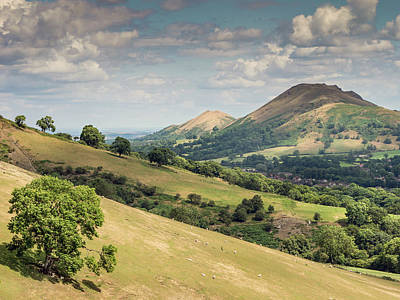 Caer Caradoc And The Lawley Art Print by Richard Greswell