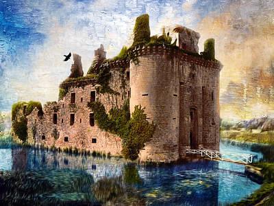 Photograph - Caerlaverock Castle - Remastered by Carlos Diaz