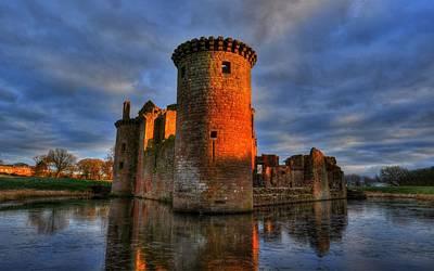Landmark Digital Art - Caerlaverock Castle by Maye Loeser