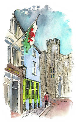 Painting - Caernarfon 01 by Miki De Goodaboom