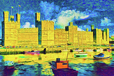 Photograph - Caernarfon Castle by Dennis Cox WorldViews