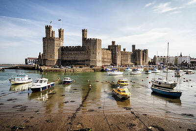 Photograph - Caernarfon Castle, North Wales by Shirley Mitchell