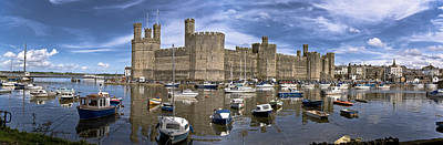 Photograph - Caernarfon Castle by Stewart Scott