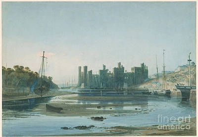 North Wales Painting - Caernarvon Castle by MotionAge Designs