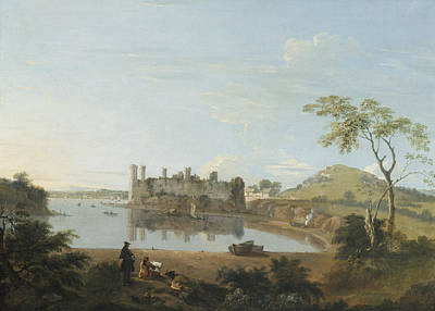 Wales Painting - Caernarvon Castle by Richard Wilson