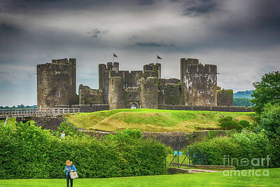 Lamborghini Cars - Caerphilly Castle East View 1 by Steve Purnell