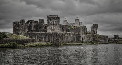 Photograph - Caerphilly Castle  by Stewart Scott