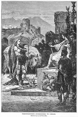 Alphonse Photograph - Caesar And Vercingetorix by Granger