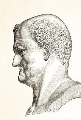 Flavius Drawing - Caesar Vespasianus Augustus Or Titus by Vintage Design Pics