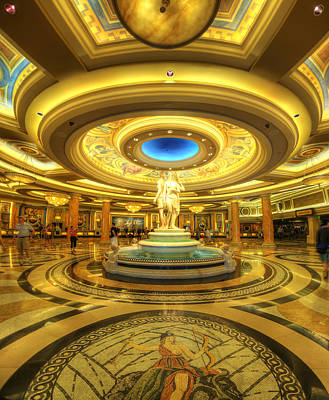 Caesar Photograph - Caesar's Grand Lobby by Yhun Suarez