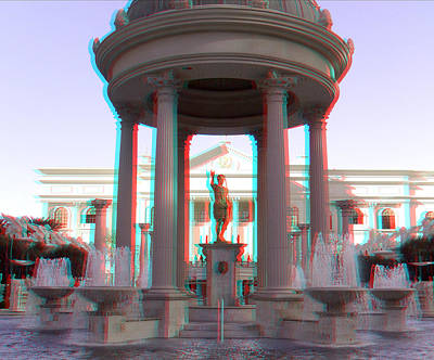 Photograph - Caesars Palace 3d by Joel Gilgoff