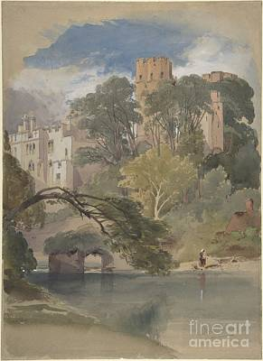 Warwick Castle Painting - Caesar's Tower, Warwick Castle by Celestial Images
