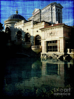 Caesars Palace Photograph - Caesars Towering Over Bellagio by David Bearden