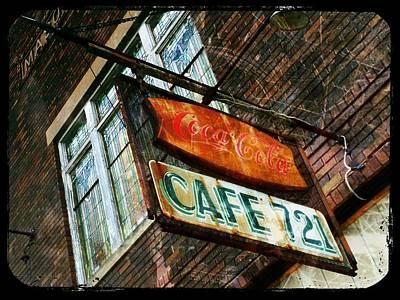 Coca-cola Sign Photograph - Cafe 721 by Michael L Kimble
