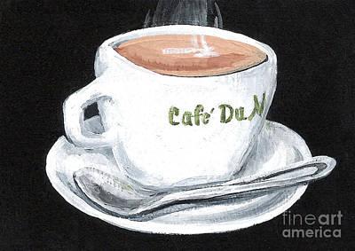 Cafe Au Lait Art Print by Elaine Hodges