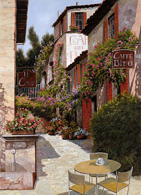 Jacob Kuch Vintage Art On Dictionary Paper - Cafe Bifo by Guido Borelli
