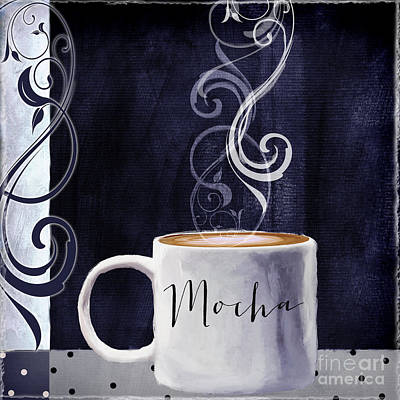 Espresso Painting - Cafe Blue IIi by Mindy Sommers