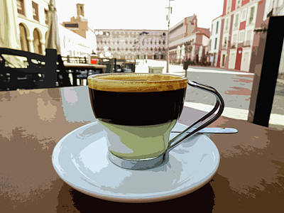 Cafe Bombon Art Print