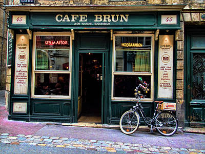 Photograph - Cafe Brun In L'orient France by David Smith