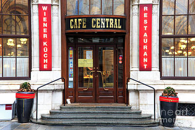Photograph - Cafe Central Vienna by John Rizzuto