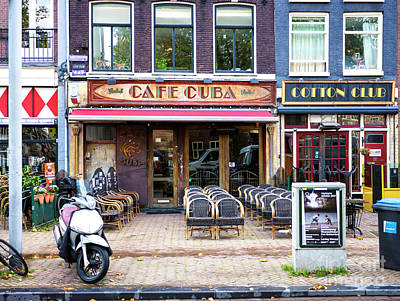 Photograph - Cafe Cuba In Amsterdam by John Rizzuto