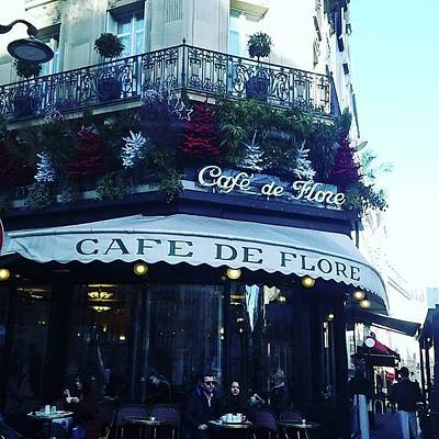 Photograph - cafe de Flore by Kimberly Dawn Clayton