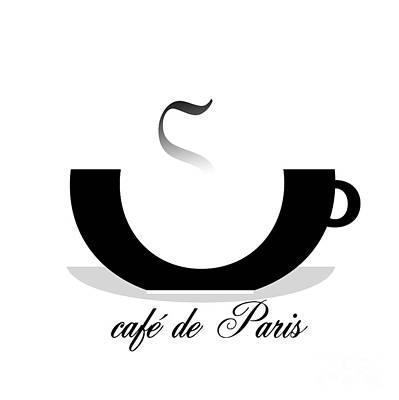 Paris Shop Digital Art - cafe de Paris artwork by Neon Flash