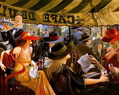 Painting - Cafe De Vill by Victor Ostrovsky