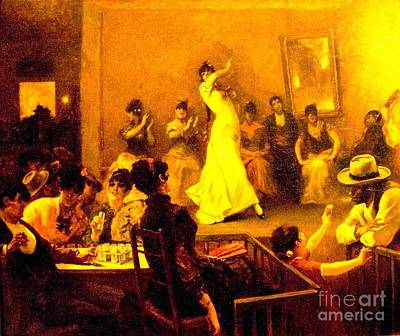 Painting - Cafe Del Buzero - Sevilla by Roberto Prusso
