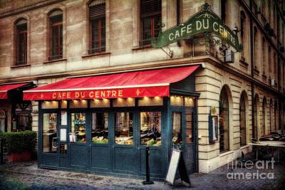 Cafe Du Centre Art Print by George Oze