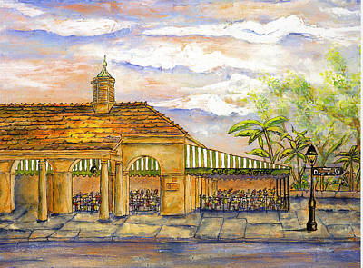 Painting - Cafe Du Monde Cloudy Sky by Catherine Wilson