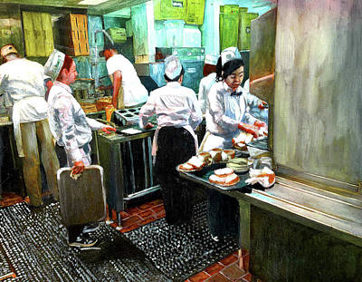 Beignets Painting - Cafe Du Monde Kitchen by John Boles