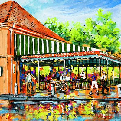 Painting - Cafe Du Monde Lights by Dianne Parks