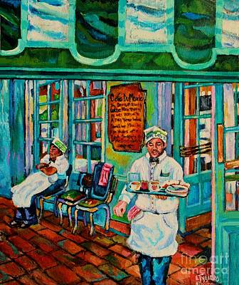 Cafe Du Monde Painting - Cafe Du Monde Revisited  by Lisa Tygier Diamond