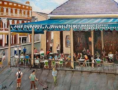 Painting - Cafe Dumonde by Arlen Avernian - Thorensen
