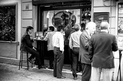 Photograph - Cafe En Sevilla by John Rizzuto