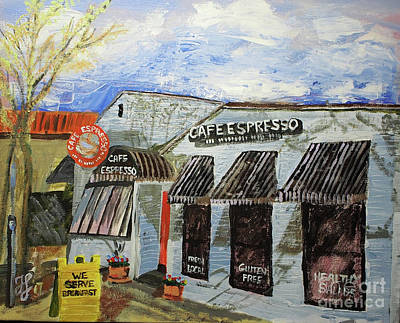 Painting - Cafe Espresso by Francois Lamothe