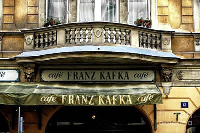 Kafka Photograph - Cafe Franz Kafka by John Rizzuto