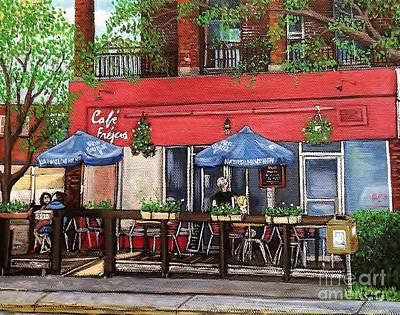 Painting - Cafe Frejus Verdun by Reb Frost