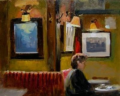 Painting - Cafe Hawelka by Andrew Judd