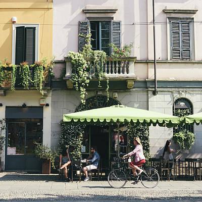 Cafe In Milan Art Print