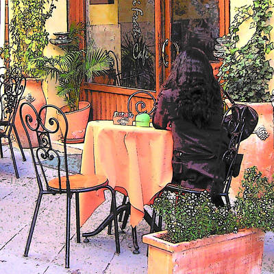Outdoor Cafe Painting - Cafe In Montepulciano Tuscany by Jan Matson
