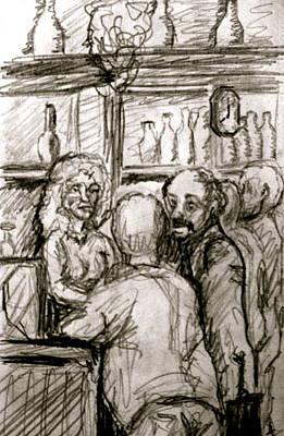 Cafe In Old Nice Art Print by Dan Earle
