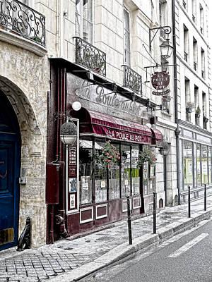 Cafe In Paris Art Print by J Pruett
